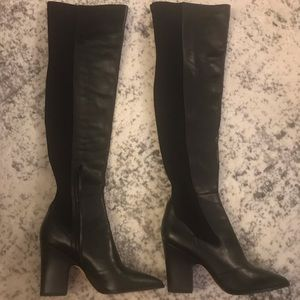 Sam Edelman Over the Knee Black Boots, Size 10.